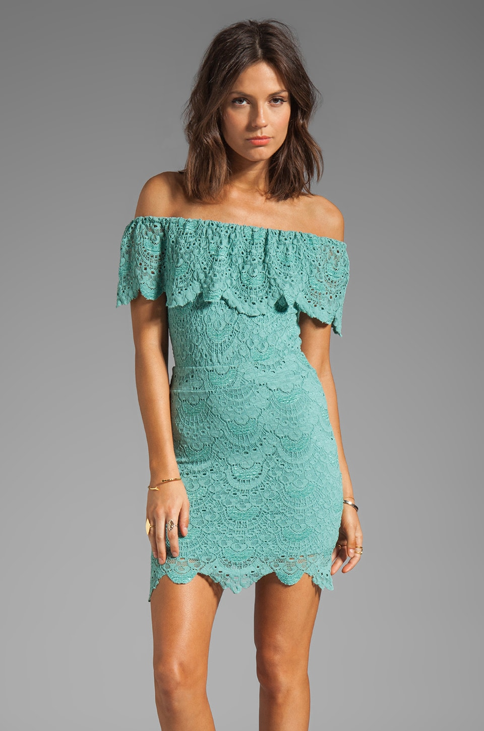 Nightcap Rivierra Dress in Seafoam