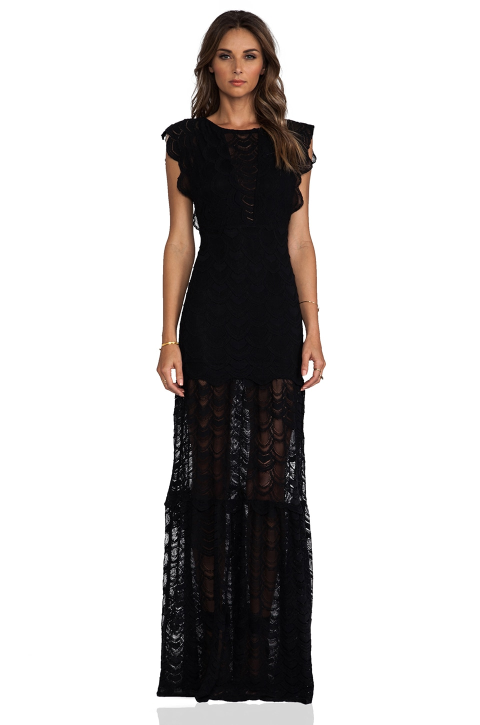 Nightcap Caletto Maxi Dress in Black
