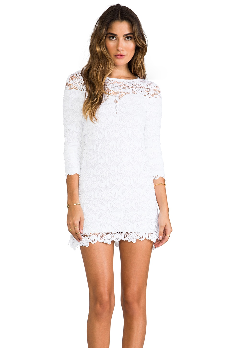 Nightcap Dixie Lace Dress in Snow