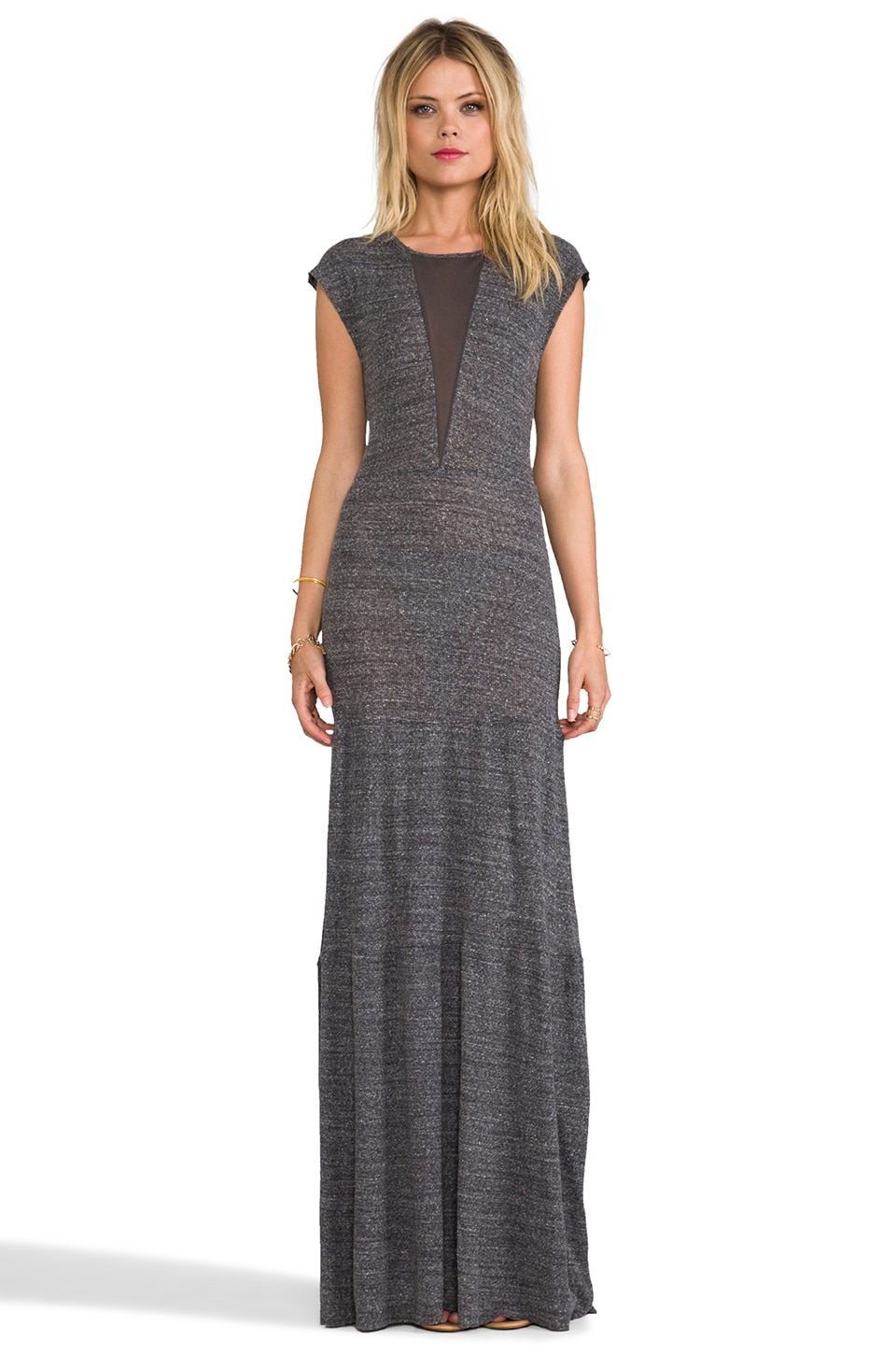 Nightcap Caletta Maxi Dress in Charcoal