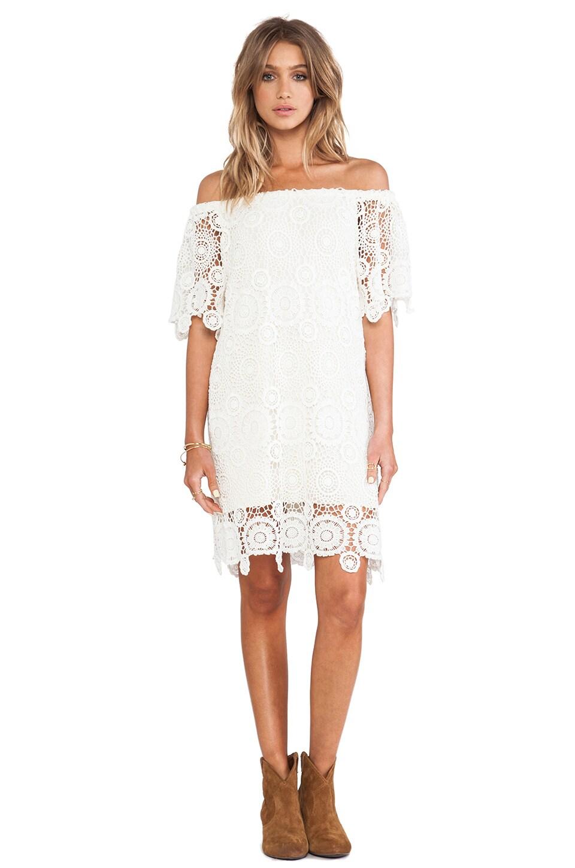 Nightcap Carmen Crochet Dress in Natural