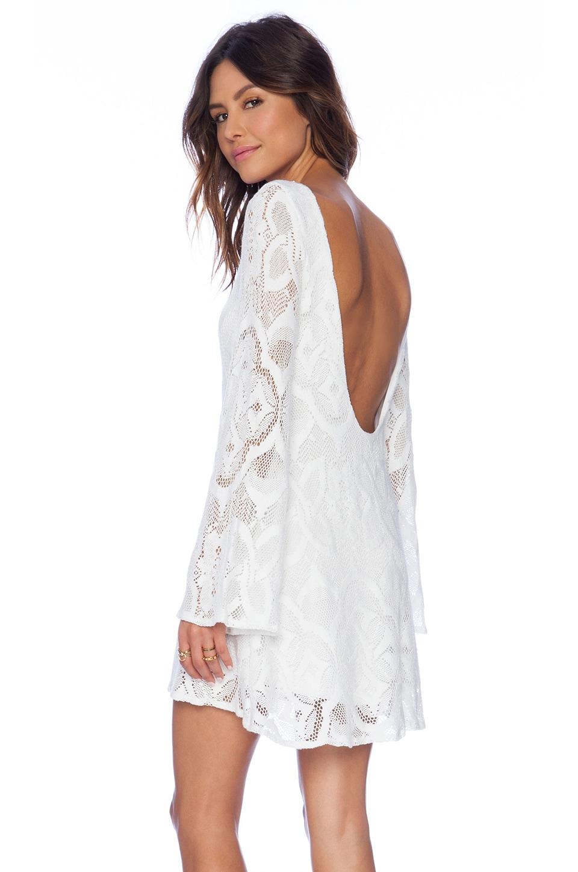 Nightcap Crochet Priscilla Dress in White