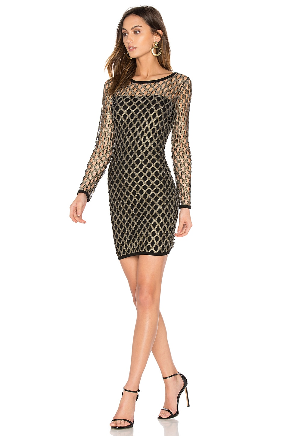 Nightcap Pyrite Mini Dress in Gold
