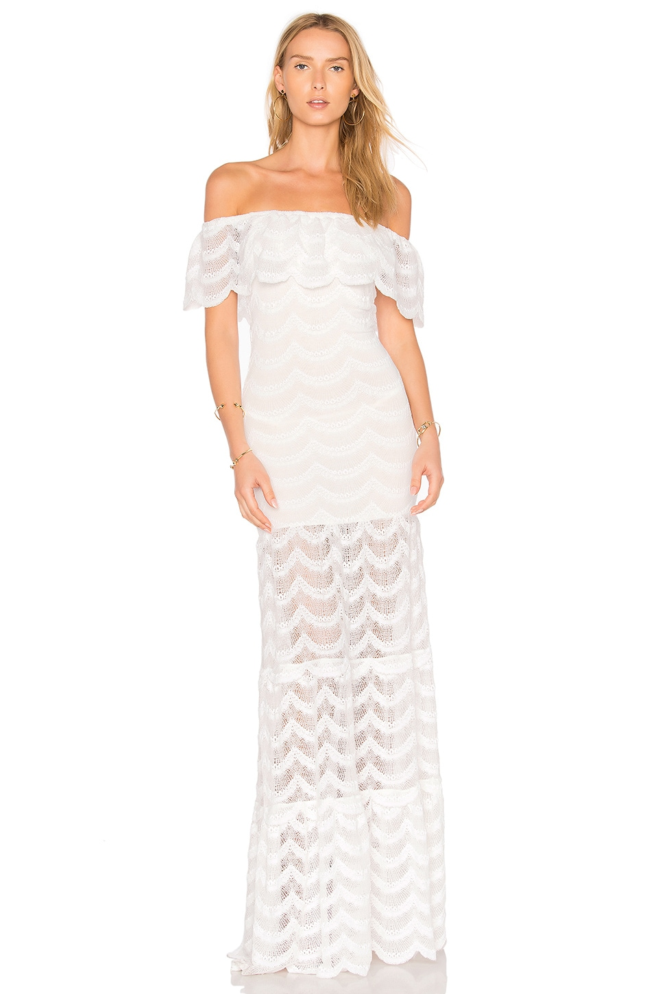 Nightcap Fiesta Positano Maxi Dress in Dove