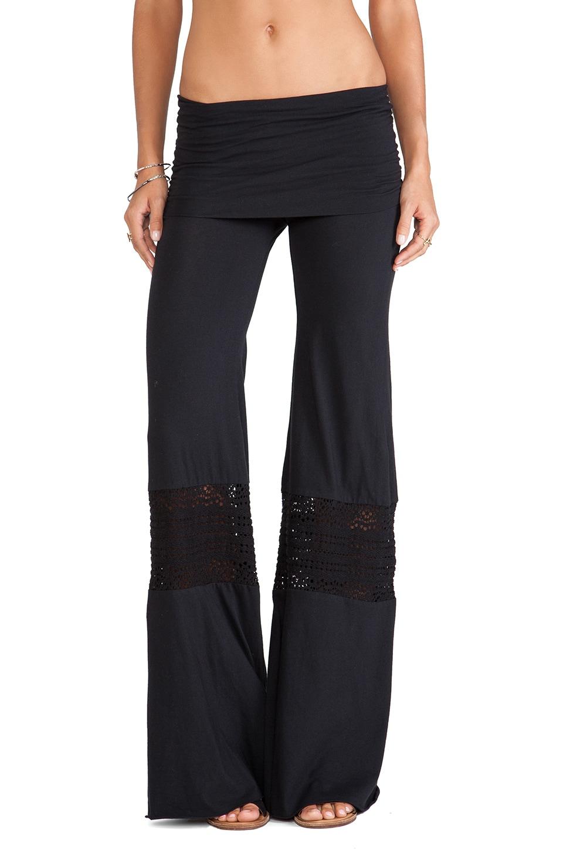 Nightcap Crochet Beach Pants in Black