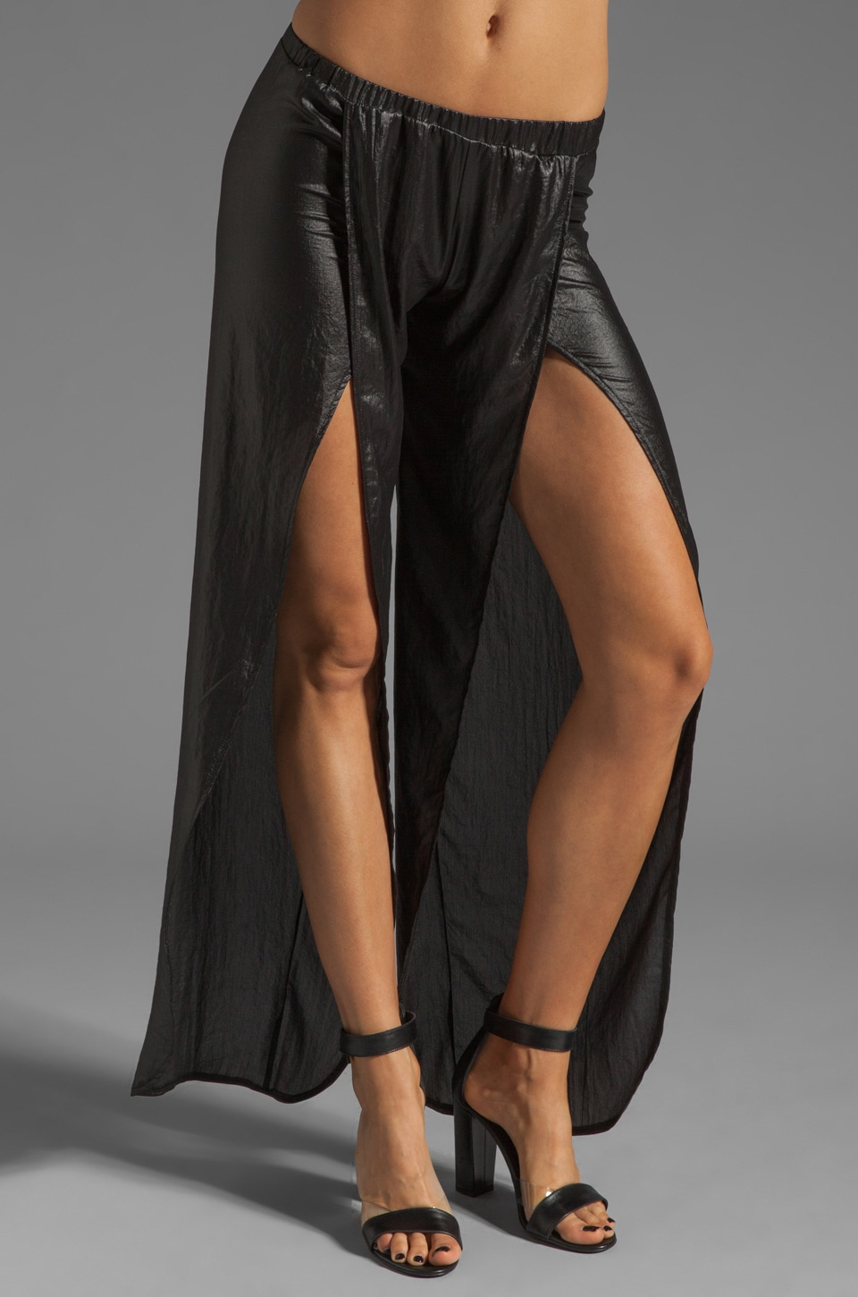 Nightcap Tulip Metallic Pant in Black