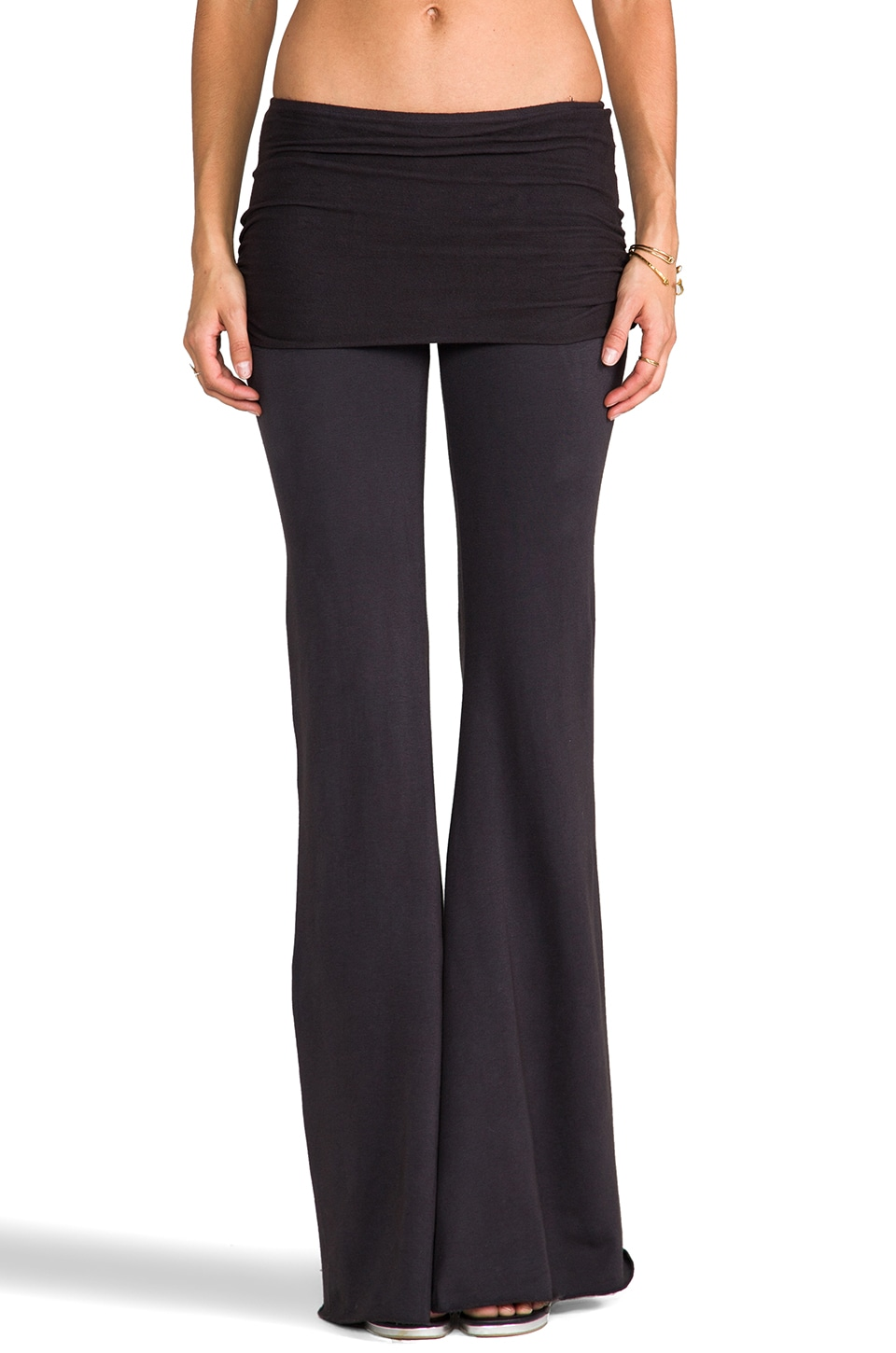 Nightcap Foldover Pant in Charcoal