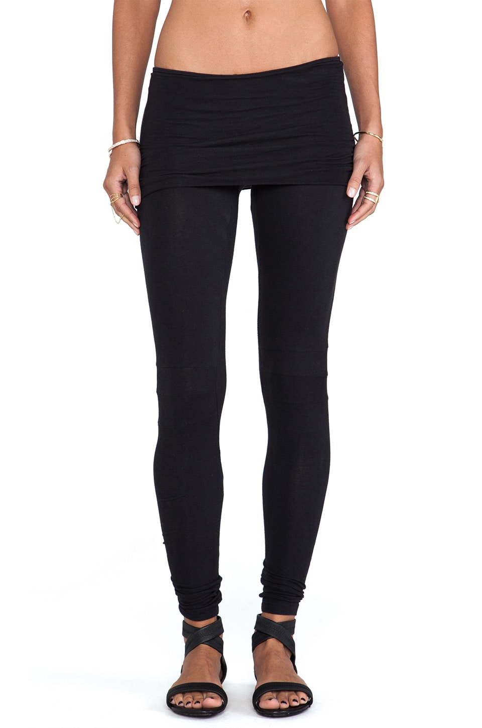 Nightcap Neon Foldover Legging in Black