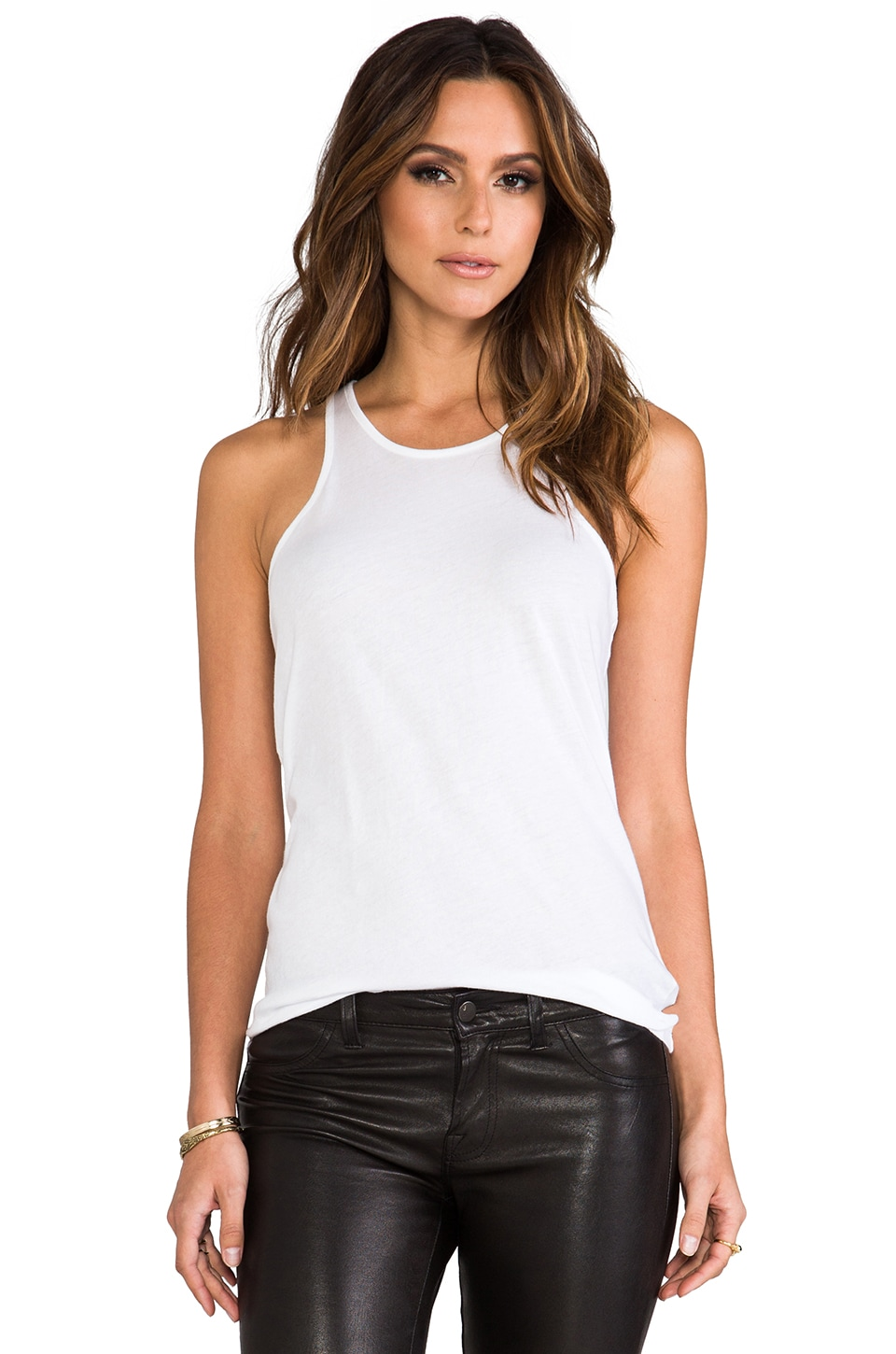 Nightcap T Racer Tank in White