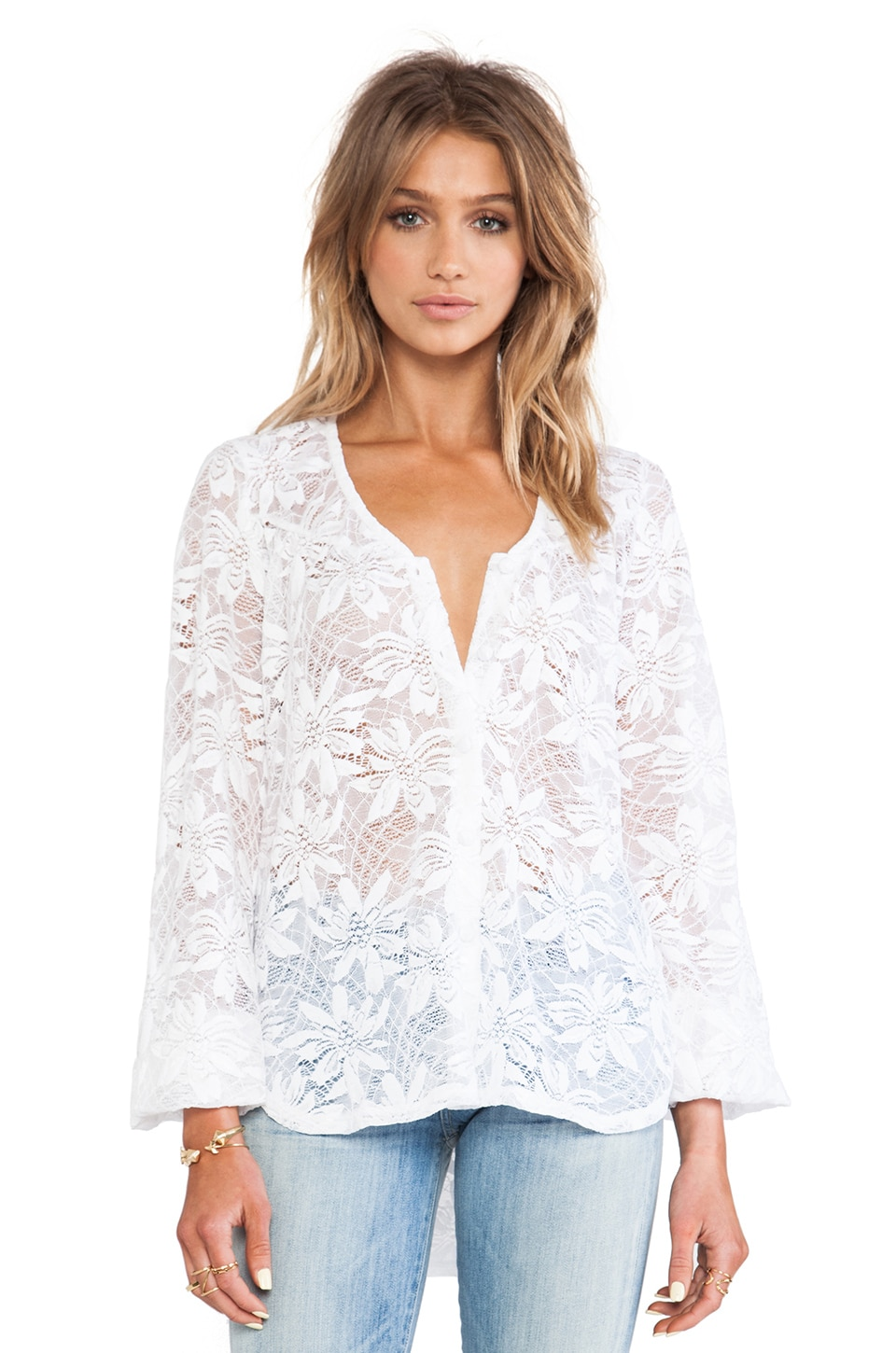 Nightcap Desert Bloom Blouse in White