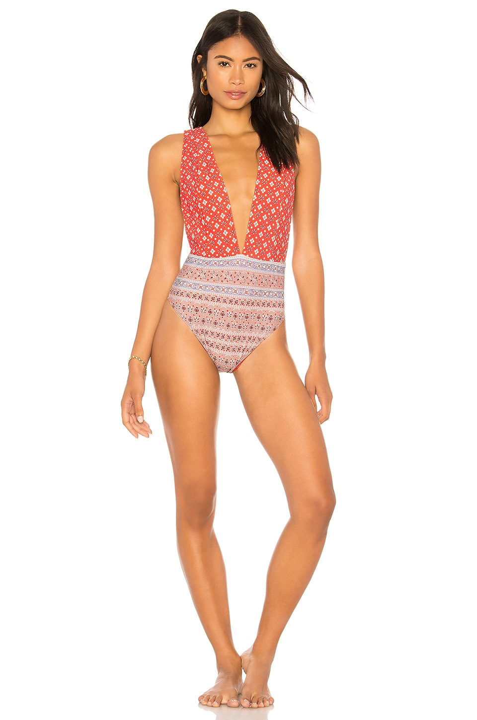 NIGHTCAP Perfect Plunge One Piece in Red