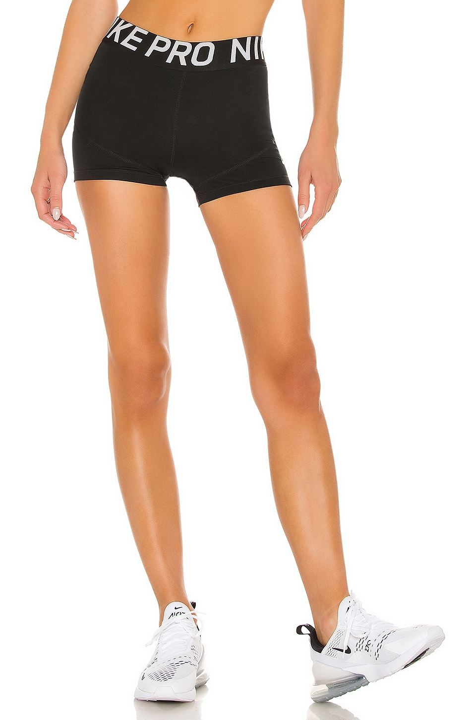Nike Pro 3 Inch Short in Black & White