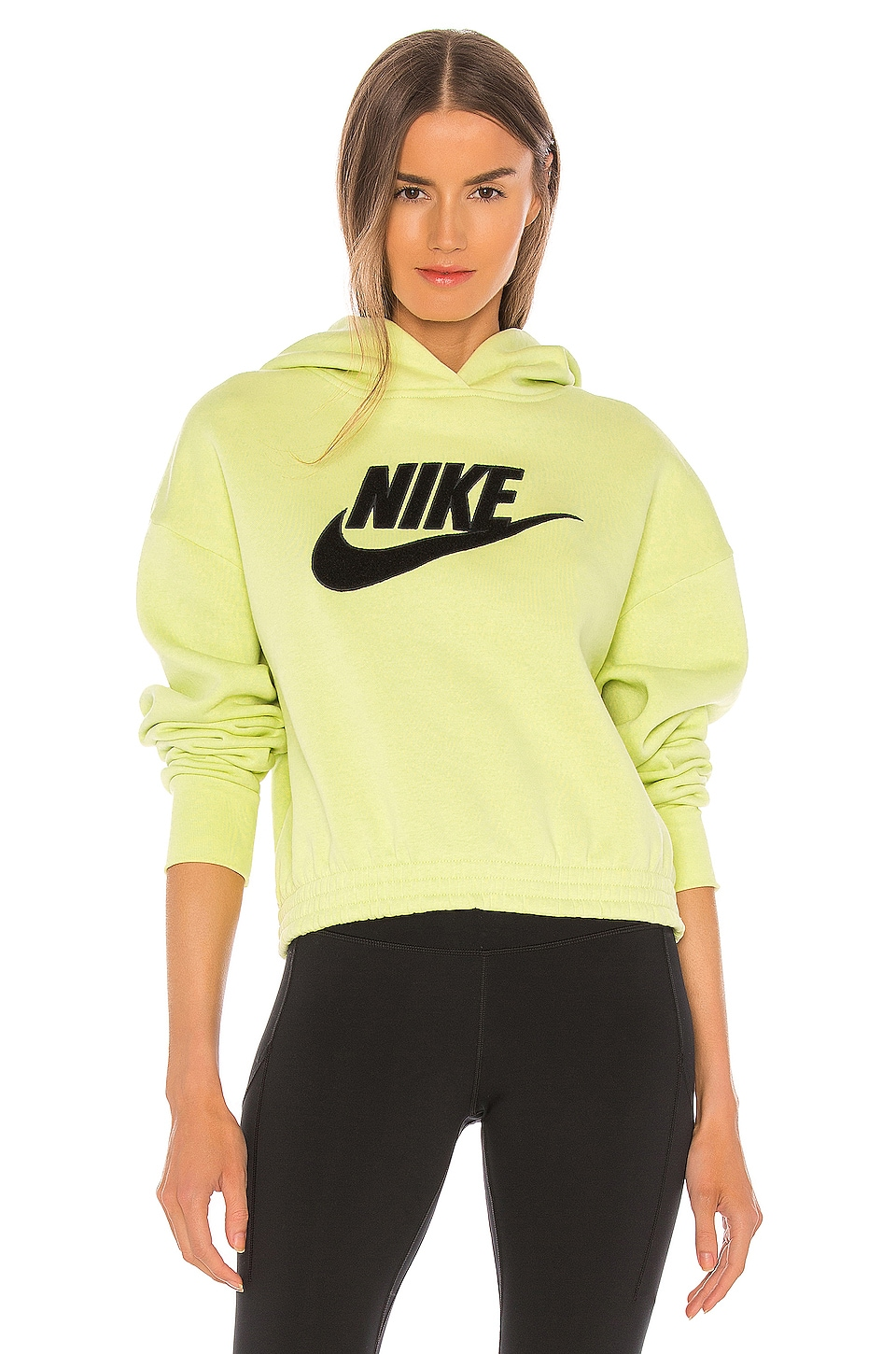 Nike NSW Icon Clash LC Hoodie in Limelight