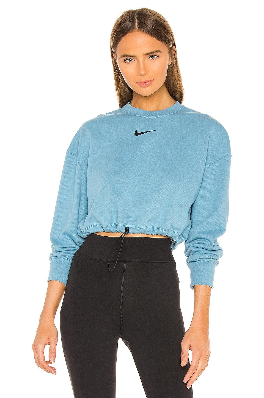 Nike NSW Swoosh Crew Sweatshirt in Cerulean & Black