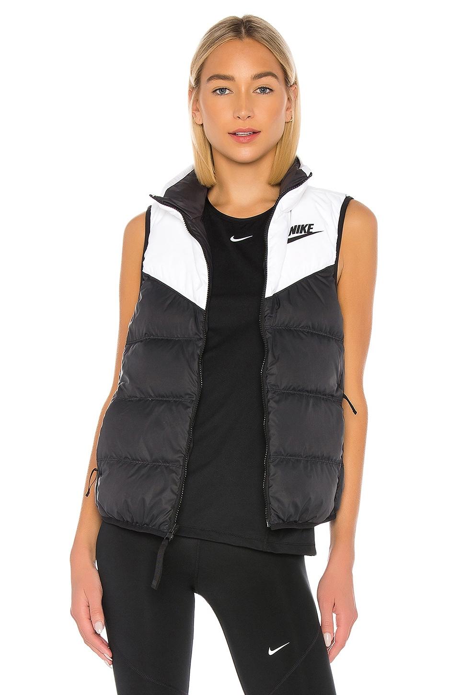 Nike Down Fill Vest in White & Black