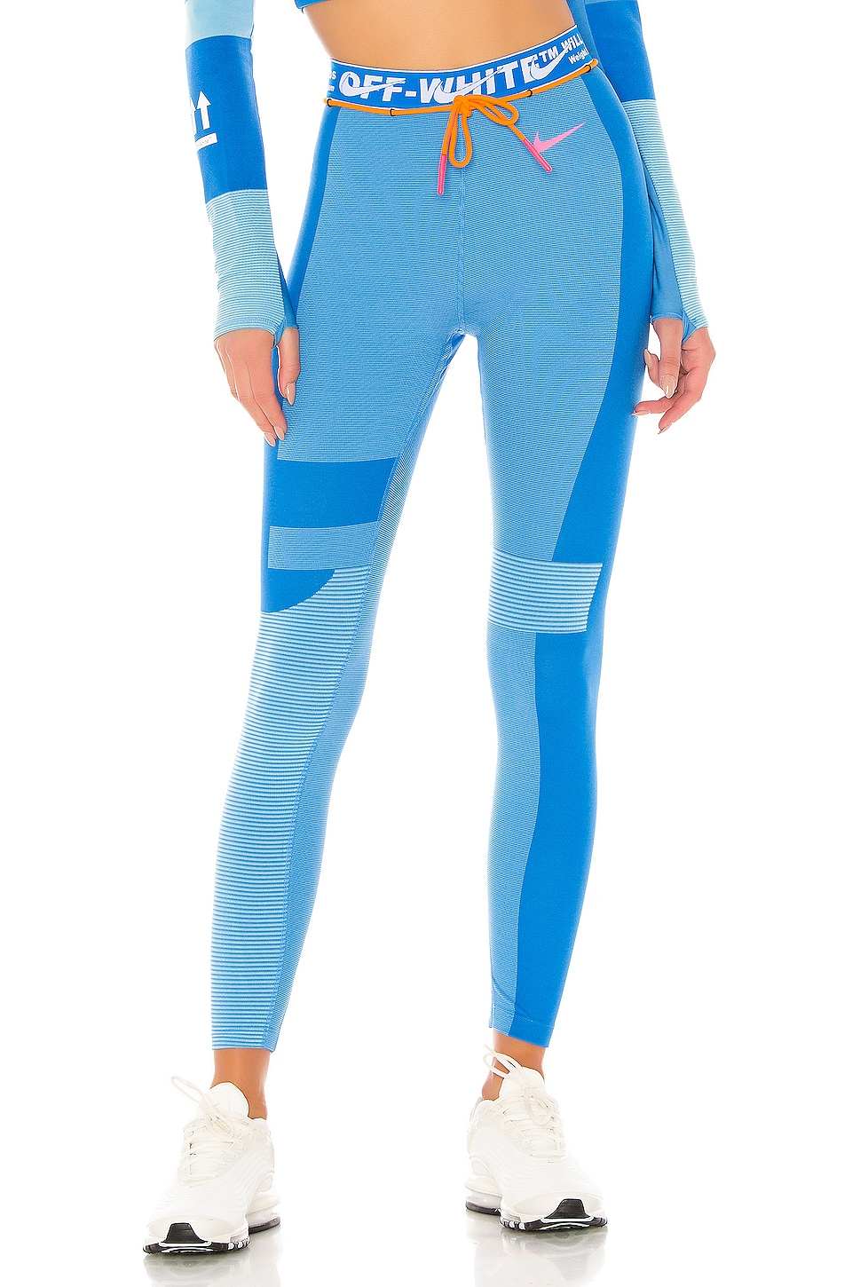 cf2687475 Nike X OFF WHITE NRG As Easy Run Tight in Photo Blue & Blue Gaze ...