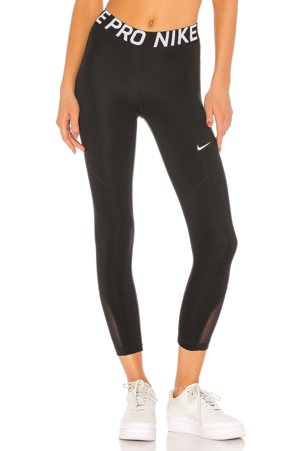 Nike NP Crop Legging in Black & White