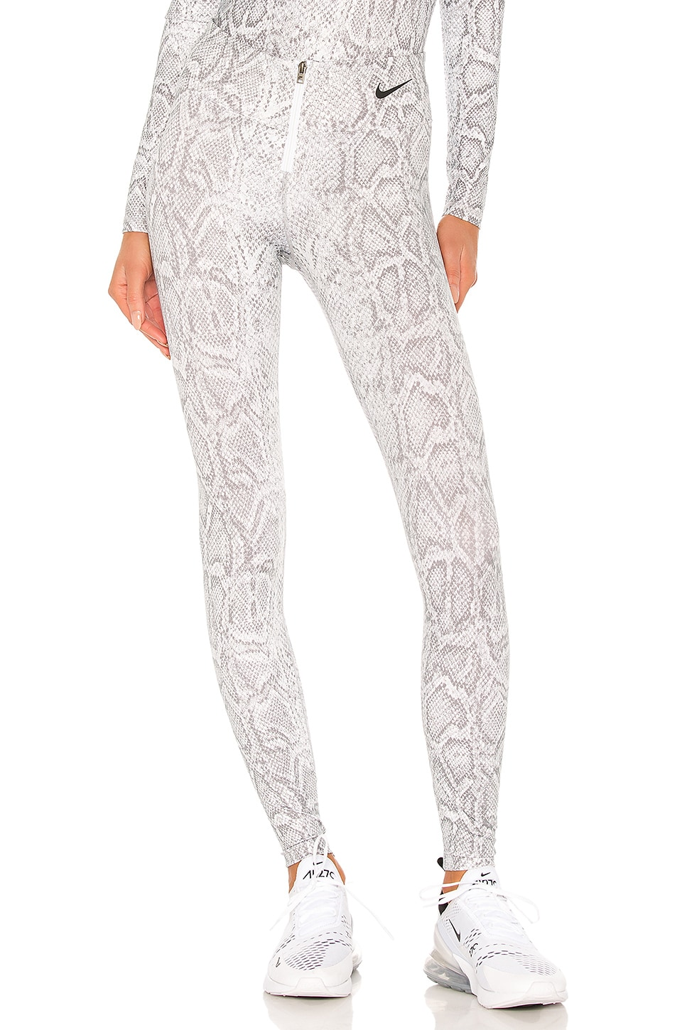 Nike Python Legging in White & Black