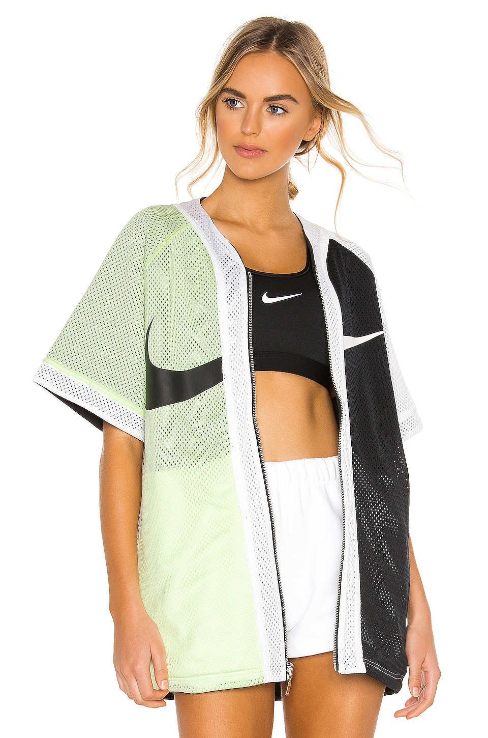 detailed look 31456 cfeeb Nike Baseball Top in Barely Volt   Black