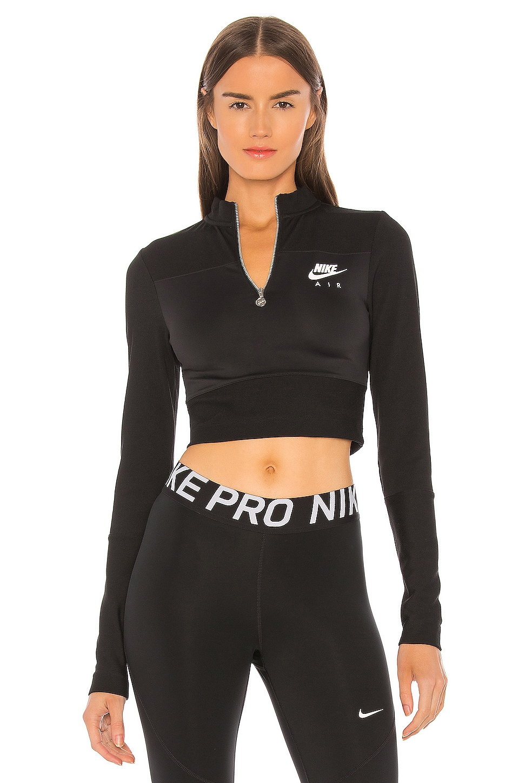 Nike NSW Air Top in Black & Ice Silver