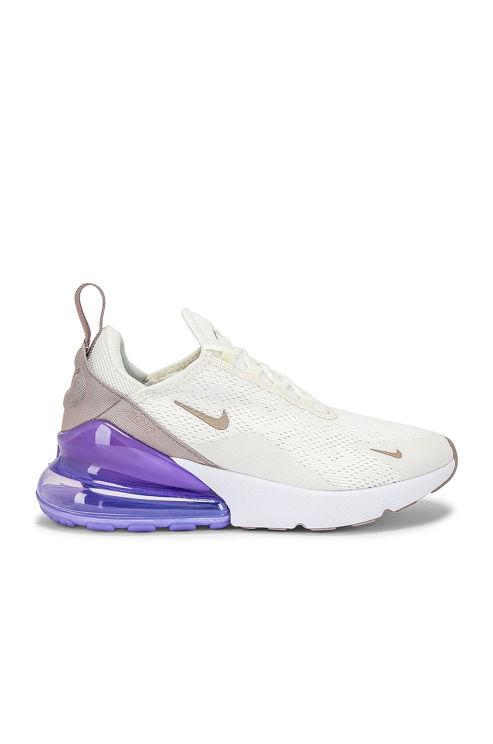 Nike Women's Air Max 270 Sneaker in Purple & White