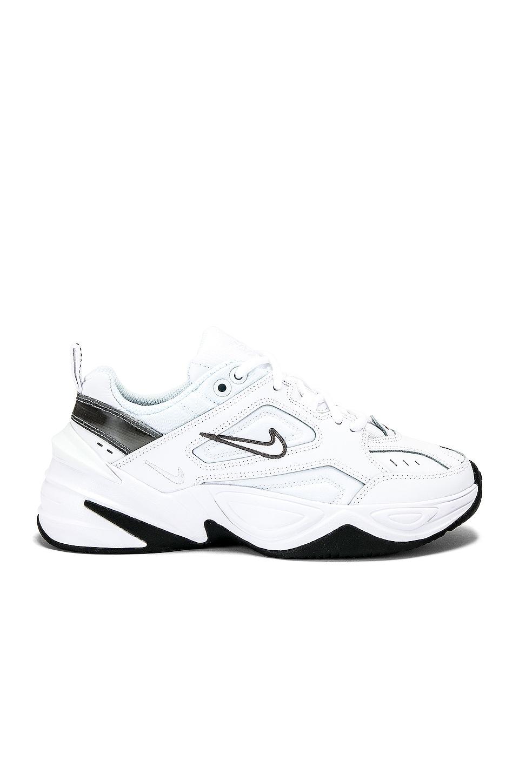 Nike Women's M2k Tekno Sneaker in White, Grey & Black