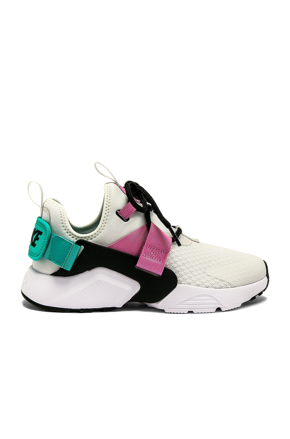 Nike Women's Air Huarache City Low Sneaker in Jade, Pink & Black