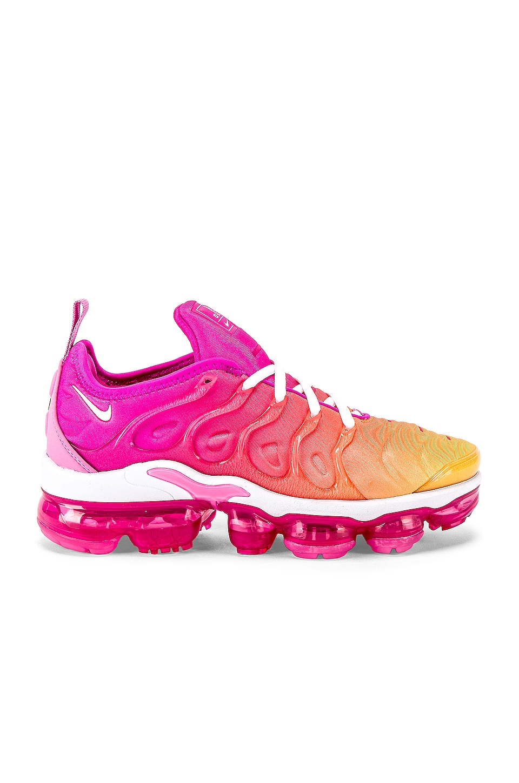 Nike Women's Air Vapormax Plus S2's Sneaker in Fuchsia, Pink & Gold