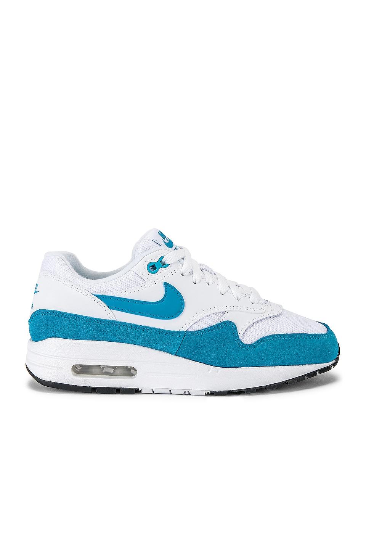 Nike Women's Air Max 1 Sneaker in White & Blue