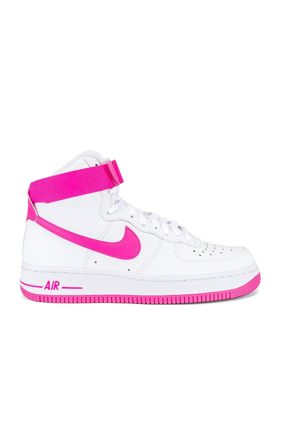 Reanimar Indígena George Stevenson  Nike Women's Air Force 1 Hi Sneaker in White & Hot Pink | REVOLVE