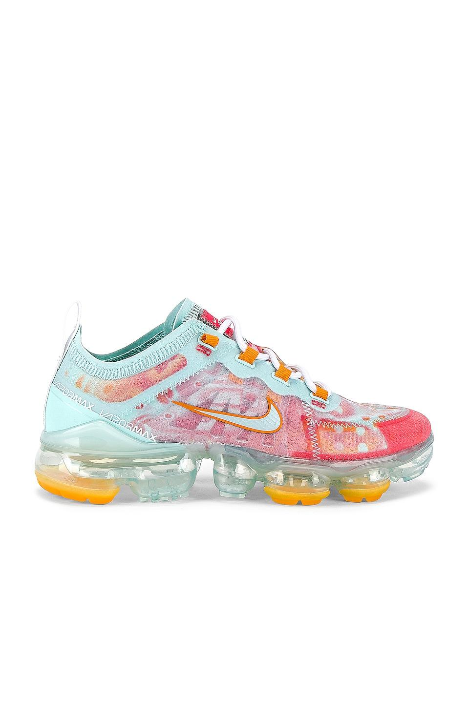 Nike Air Vapormax 2019 Sneaker in Teal Tint & Ember Glow