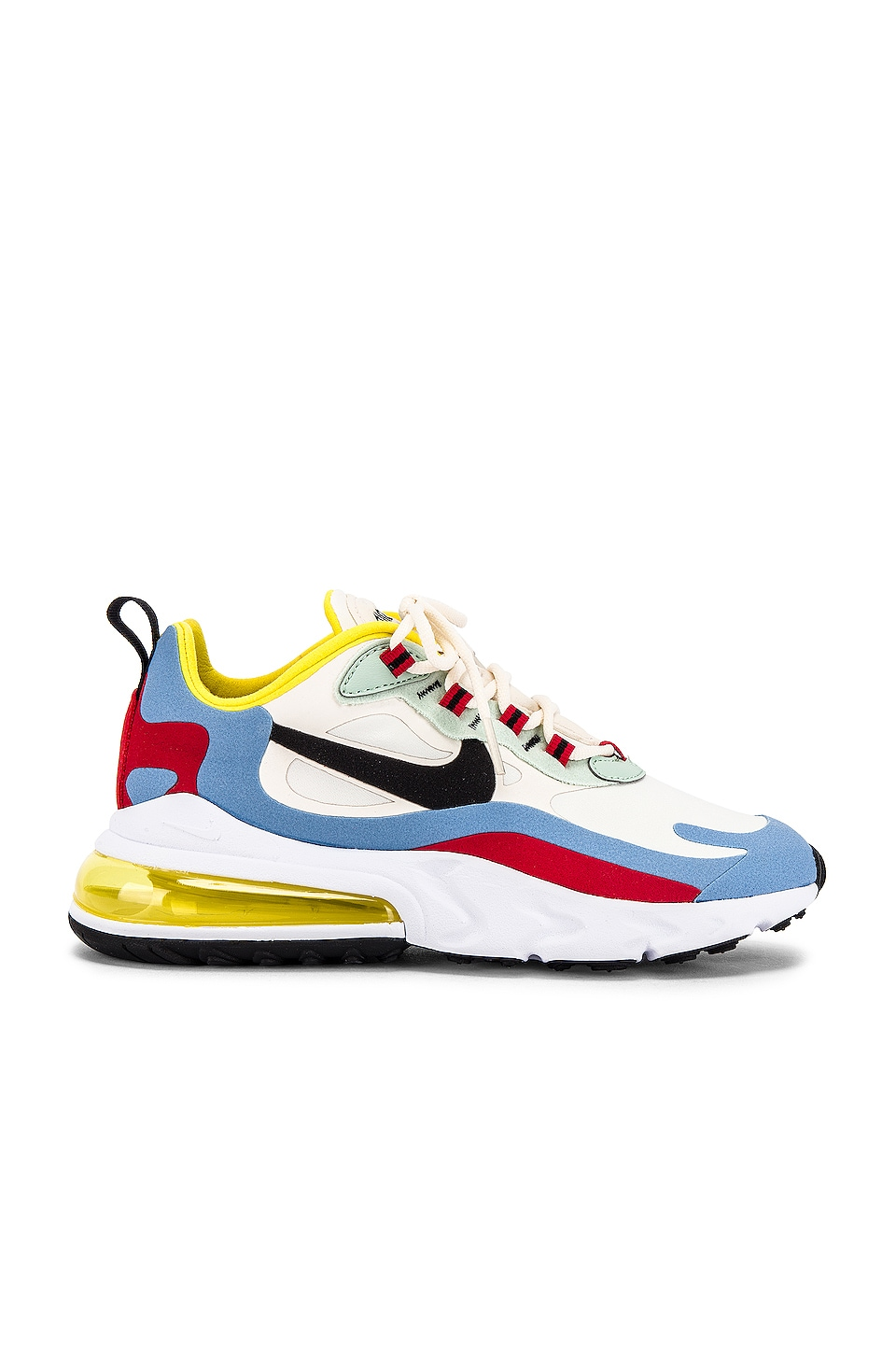 Nike Air Max 270 React Sneaker in Yellow, Light Blue, Red & Black