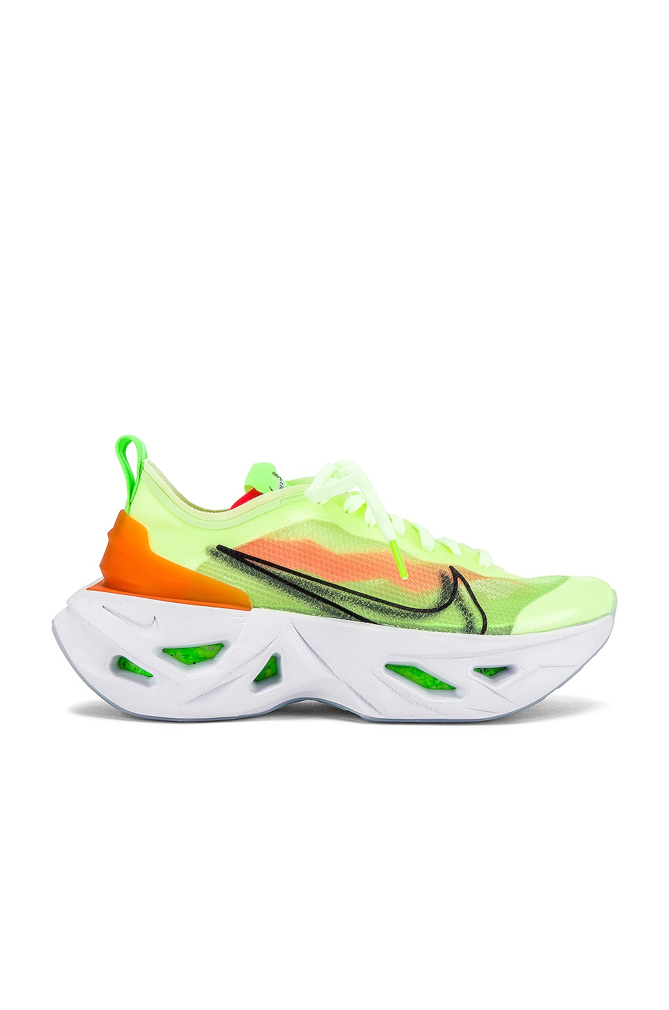 Nike NSW Zoom X Vista Grind Sneaker in Barely Volt, Black, Electric Green Starfish & Crimson Half Blue