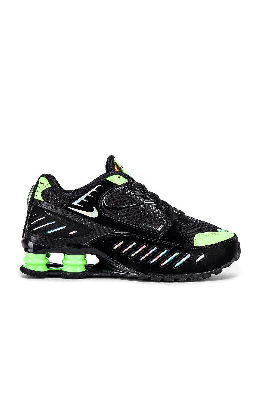 Nike Shox Enigma SP Sneaker in Black & Lime Blast