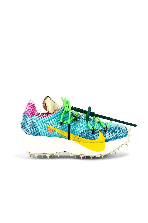 Nike x OFF-WHITE WS Vapor Street Sneaker in Polarized Blue, Tour Yellow & Sail