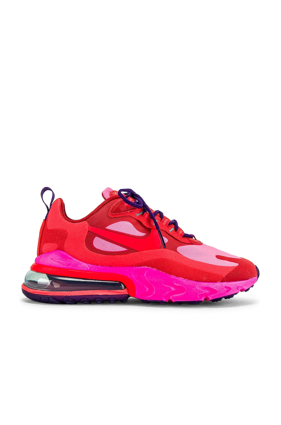 Nike Air Max 270 Sneaker in Mystic Red, Burnt Crimson, Pink Blast, Habanero & Red Court