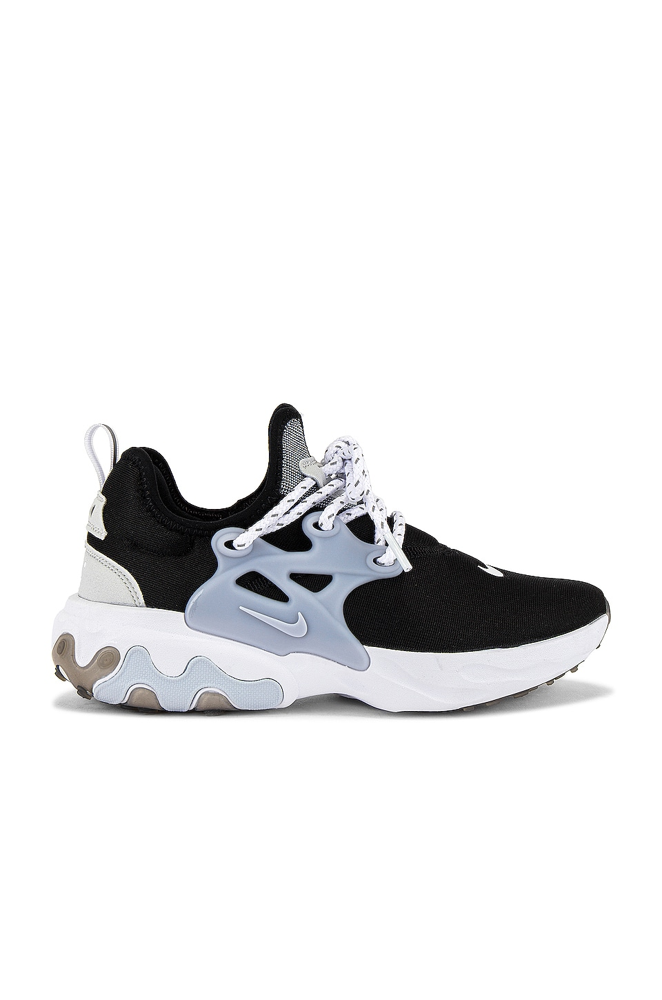 Familiar R Diversidad  Nike React Presto Sneaker in Black, Sky Grey & Photon Dust | REVOLVE