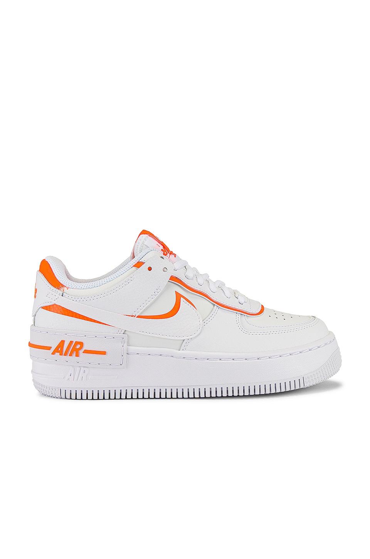 Nike AF1 Shadow Sneaker in Summit White & Total Orange