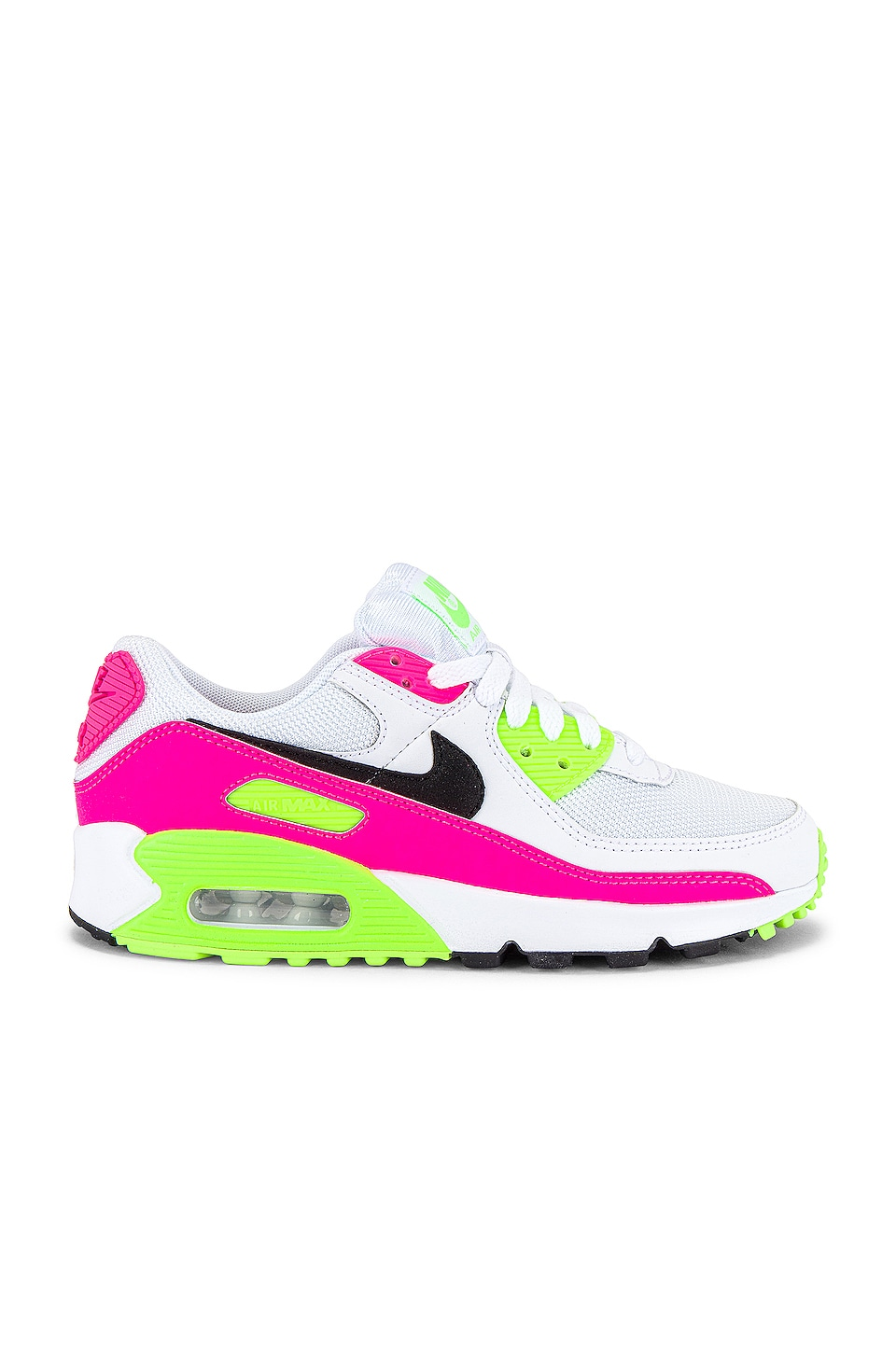 Nike Air Max 90 Sneaker in White, Pink