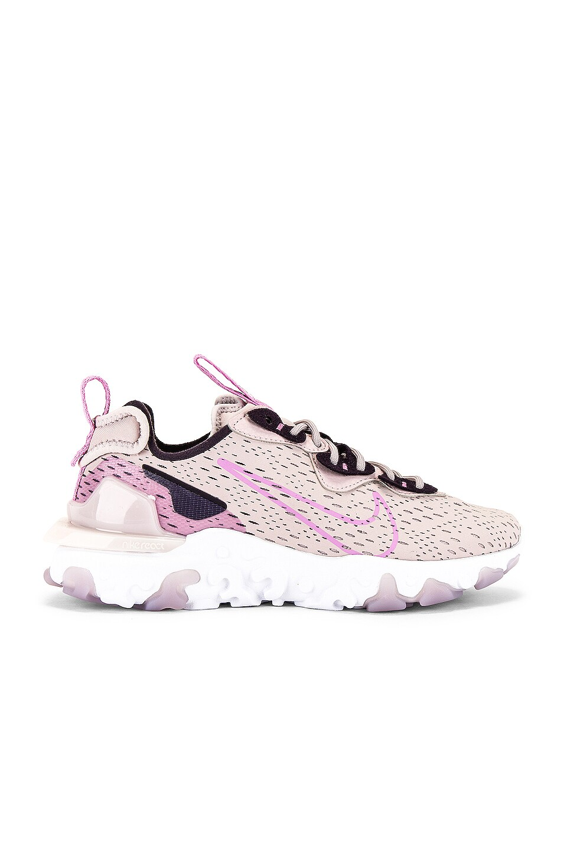 Nike NSW React Vision Sneaker in Platinum Violet, Beyond Pink ...