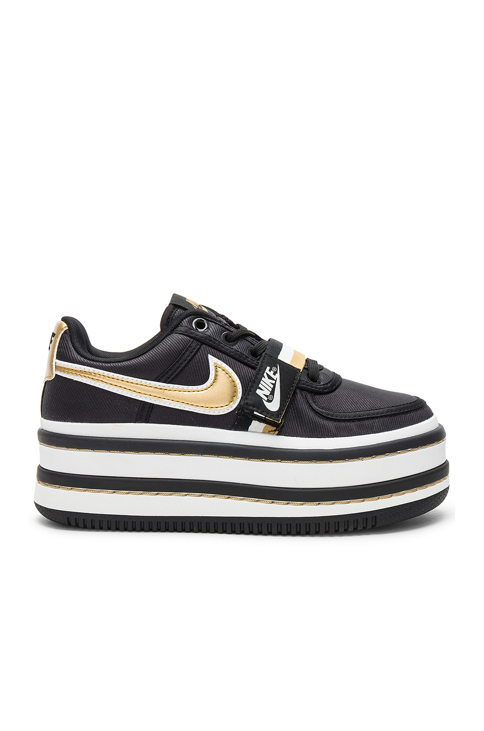 Nike Vandal 2K Metallic Faux Leather-Trimmed Faille Platform Sneakers In  Black