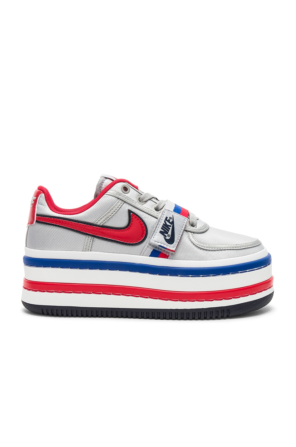 Nike Vandal 2K Faux Leather-Trimmed Metallic Faille Platform Sneakers In Red