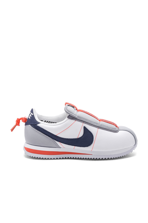 innovative design b51b4 b20eb Nike Cortez Kenny IV Sneaker in White, Blue, Grey & Turf ...
