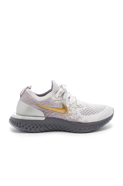 Women'S Epic React Flyknit Running Shoes, Grey in Gray