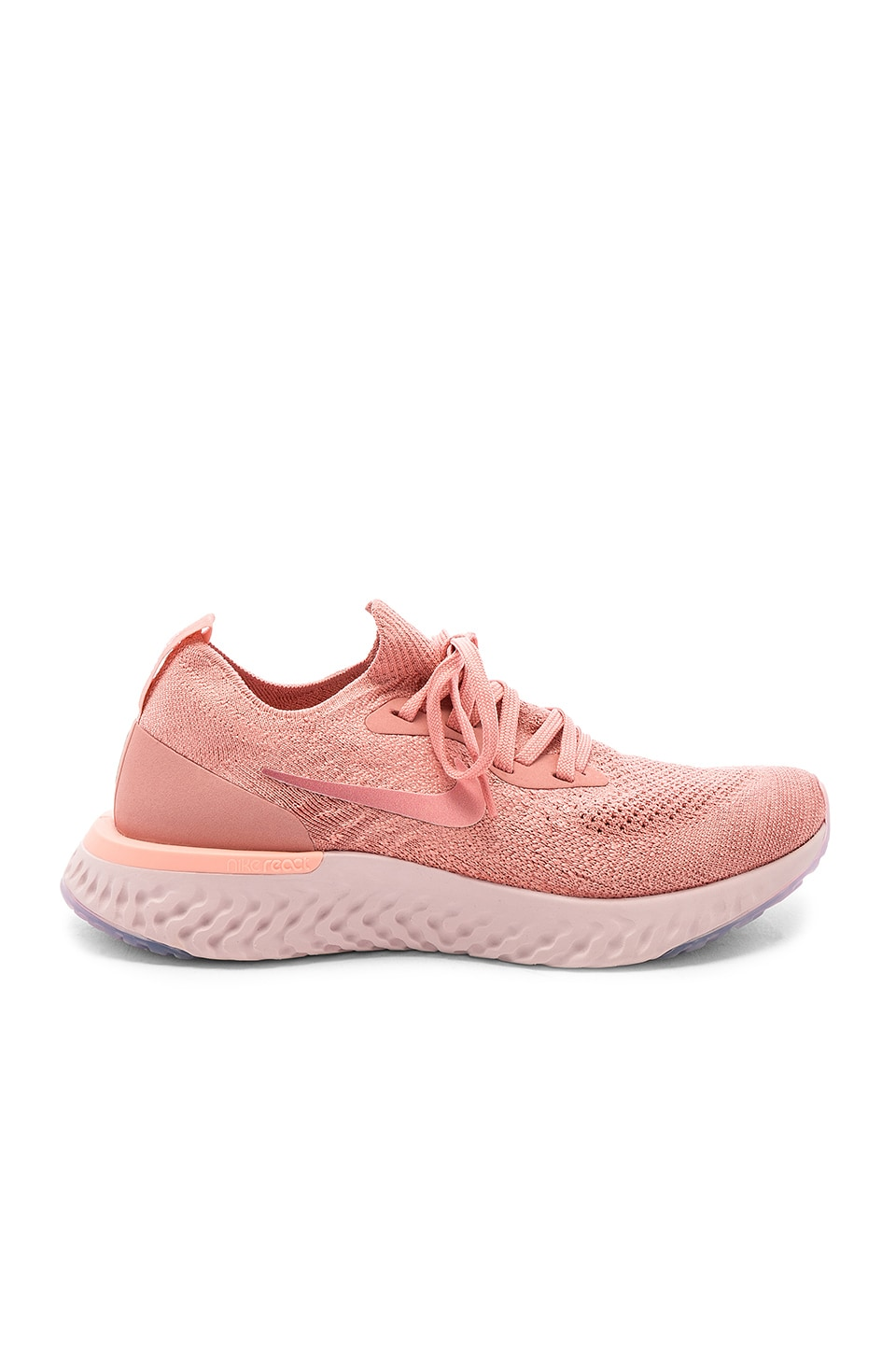 the latest 5c1a4 833c6 Nike Epic React Flyknit Sneaker in Rust Pink, Pink Tint & Tropical Pink