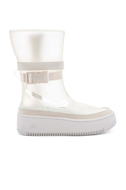innovative design 1e6b8 95940 Nike Women's AF1 Sage HI LX Boot in Phantom & White   REVOLVE