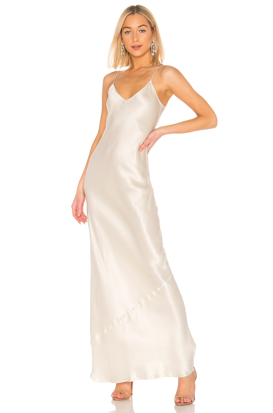 NILI LOTAN Cami Gown in Ivory