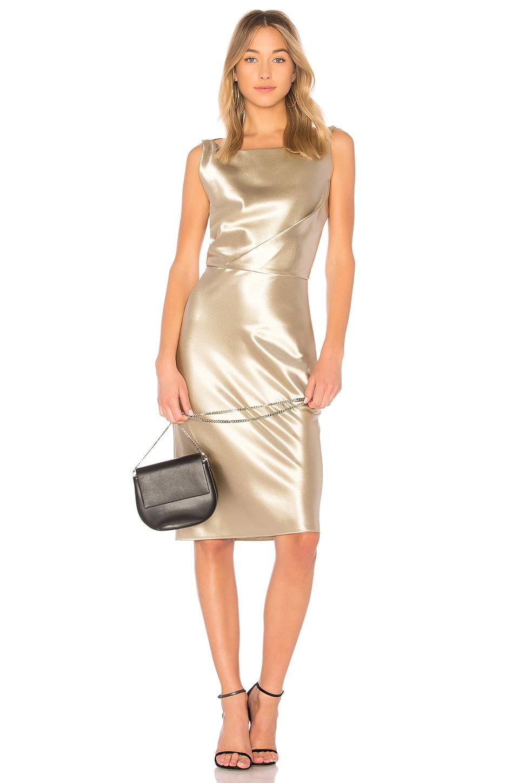 NILI LOTAN Anne Dress in Gold