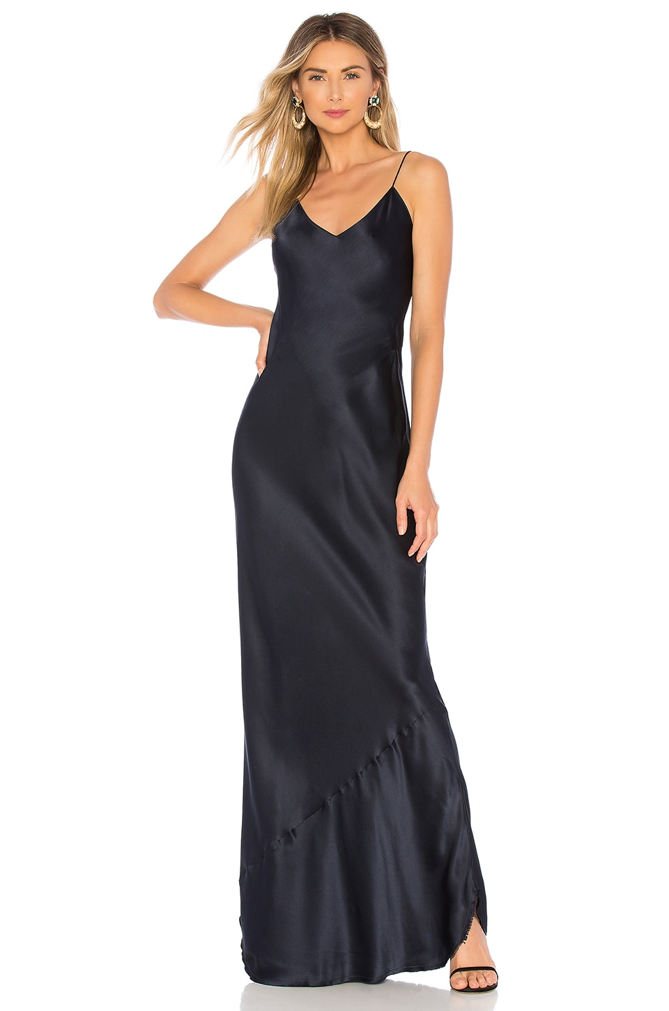 NILI LOTAN Cami Gown in Dark Navy