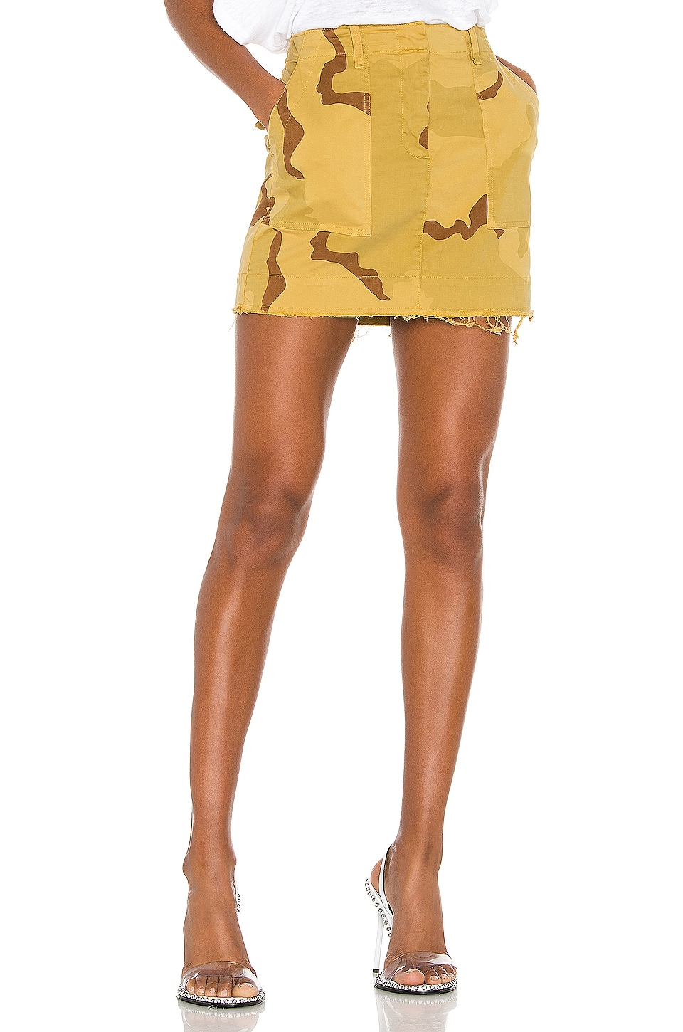 NILI LOTAN Ilona Skirt in Golden Camouflage